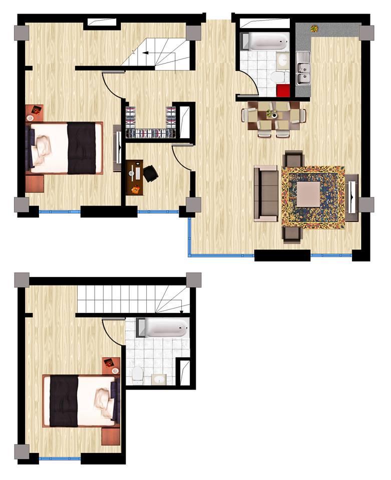 3 өрөө B penthouse хувилбар
