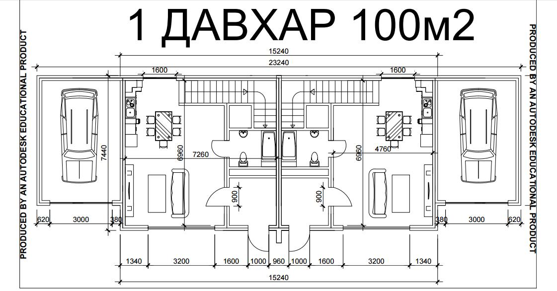 1 давхар 100 м2