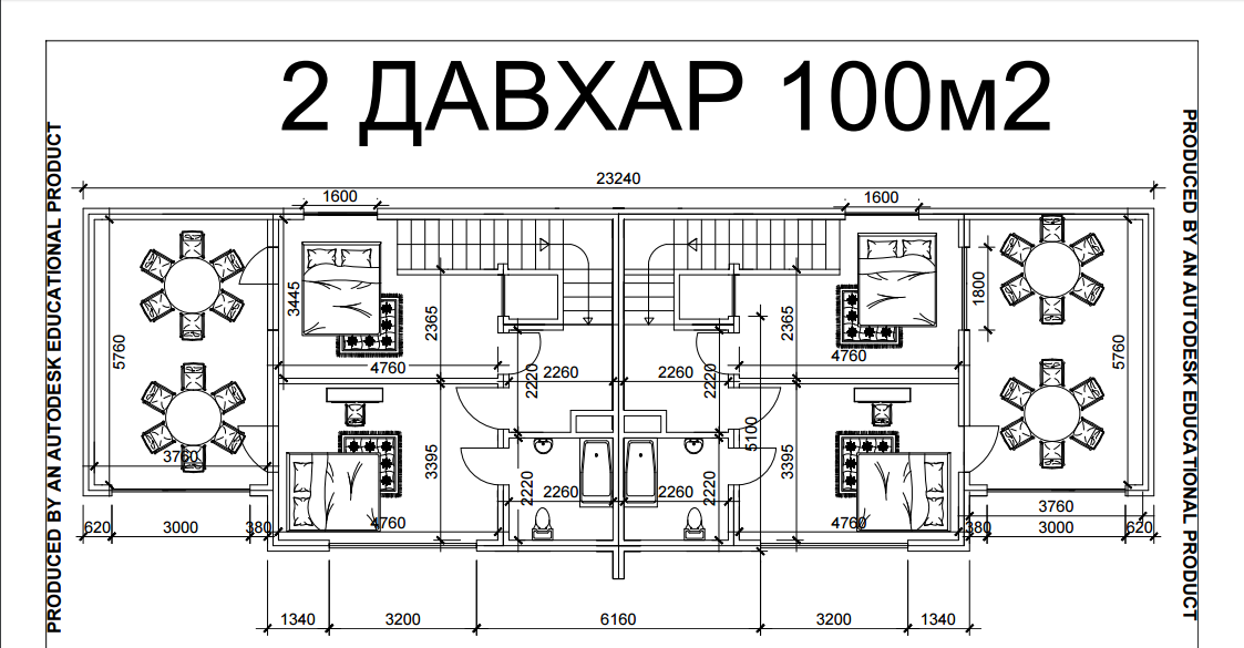 2 давхар 100 м2
